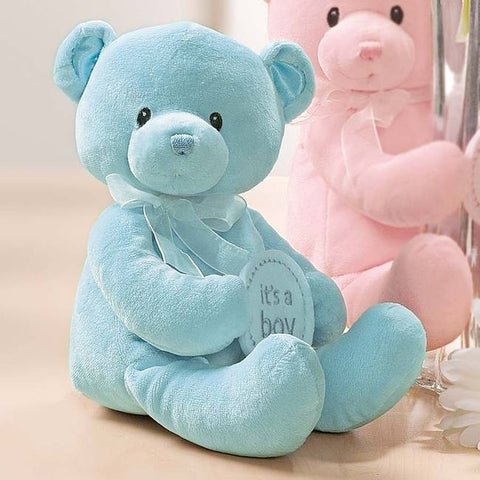 "GUND ""It's A Boy"" Teddy Bear Vase Hugger 12"""