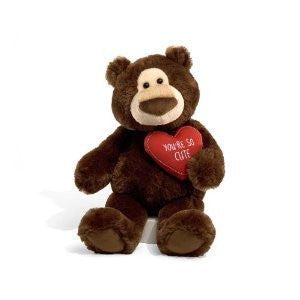 GUND McCarthy Plush Valentine's  Day  Bear - 13 Inches