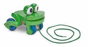 Wooden Frolicking Frog Pull Toy - Melissa and Doug