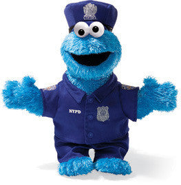 GUND Sesame Street Cookie Monster NYC Police Officer
