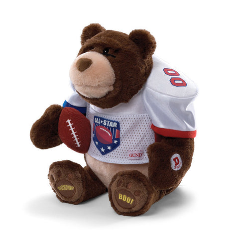 GUND Gridiron Interactive Plush Football Teddy Bear - 13""