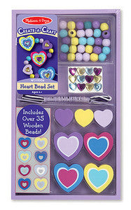 Decorate Your Own Hearts   Bead Set  - Melissa and Doug #4177 - Ages  4+
