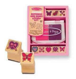 Melissa and Doug Butterfly and Hearts Stamp Kit #2415 - Ages 4+ Years