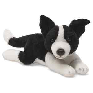 "GUND Gundimals Plush Border Collie  Dog  Beanbag Toy - 8""  #4034072"