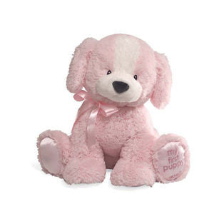 "My First Puppy  14"" Plush Puppy Pink - GUND Baby - NWT"