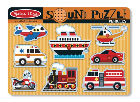 Vehicles Sound  Peg Puzzle - Melissa and Doug