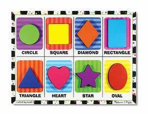 Wooden Chunky Shapes learning Puzzle - melissa and Doug