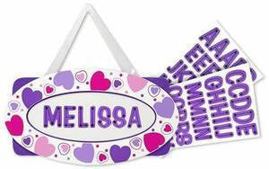 Melissa and Doug  Wooden Hearts Door Plaque #2639 Ages 4+