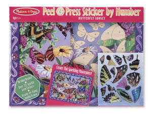 Butterfly Peel & Press Stickers by Numbers -  - Melissa and Doug