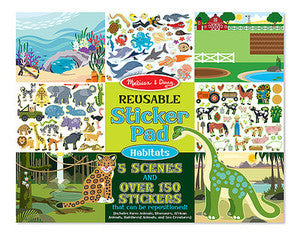 Habitats Reusable  Sticker Pad - Melissa and Doug