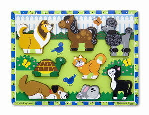 Pets Chunky Wooden Puzzle - Melissa and Doug