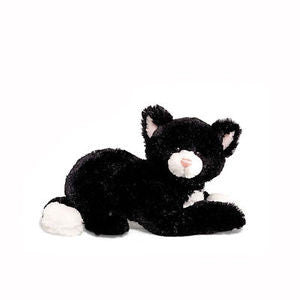 "GUND Plush ""Dusky"" Black and White Cat - 10"""