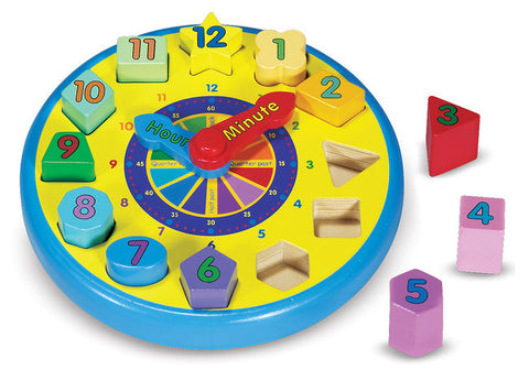 Wooden Shape Sorting Clock - Melissa and Doug