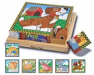 Pets Wooden Cube  Puzzle - Melissa and Doug