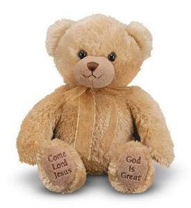Talking Mealtime Prayer Bear - Melissa and Doug - 9""
