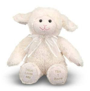 Jesus Loves Me Singing Stuffed Animal - Melissa and Doug - 9""