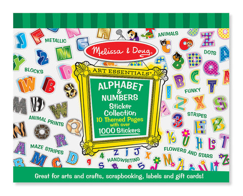 Alphabet and Numbers  Sticker Collection - Melissa and Doug