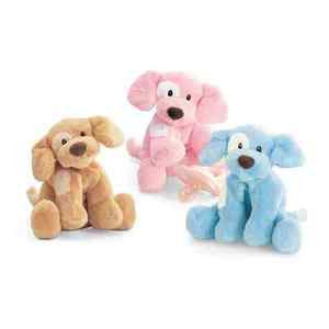 "GUND Baby Plush Spunky Dog Rattle Blue 4"" #058493"