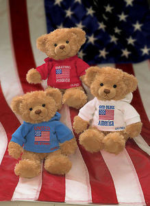"GUND Plush ""Stars and Stripes"" Patriotic Teddy Bear"