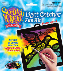 Scratch Art Hummingbird Light Catcher Kit   - Melissa and Doug