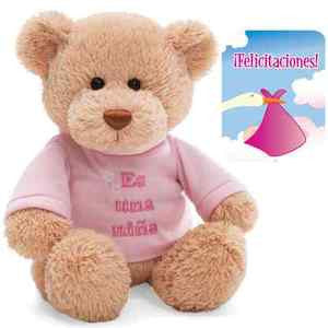 "GUND ""It's A Girl"" Plush Teddy Bear in Spanish 12"" - 015419SP"