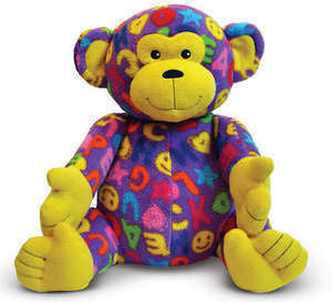 Beeposh Ricky Monkey    Stuffed Animal Toy by Melissa and Doug -- #7230