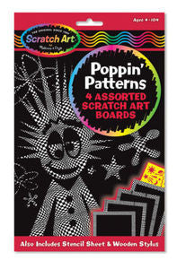 Wacky Scratchin Poppin Patterns  Scratch Art   - Melissa and Doug