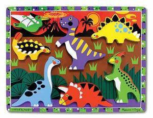 Wooden Chunky Dinosaurs Learning Puzzle - Melissa and Doug