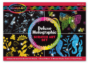 Deluxe Holographic  Scratch Art Set  - Melissa and Doug