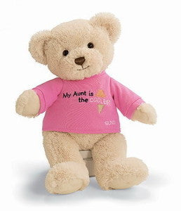"GUND Plush ""My Aunt Is The Coolest"" Teddy Bear - 12"""