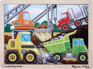Melissa and Doug Construction Site  12 Piece Wooden Jigsaw Puzzle - #2933
