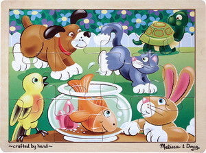 Playful Pets  12 Piece Wooden Jigsaw Puzzle - 3+ Years -  #2932