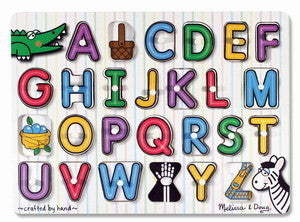 See Inside Alphabet  Peg Puzzle - Melissa and Doug