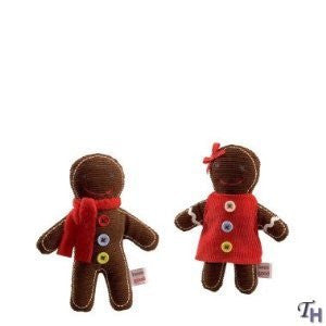 GUND Musical Gingerbread Ornaments - Set of 2