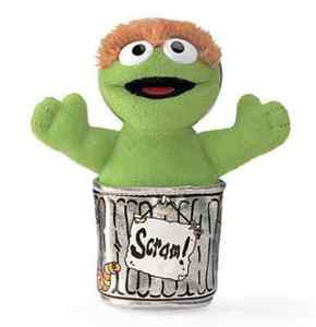 GUND Sesame Street Oscar the Grouch   Beanbag Toy - 5""""