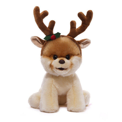 "GUND Plush Christmas ""BOO"" The World's Cutest Dog with Antlers, 8"" #4043147"