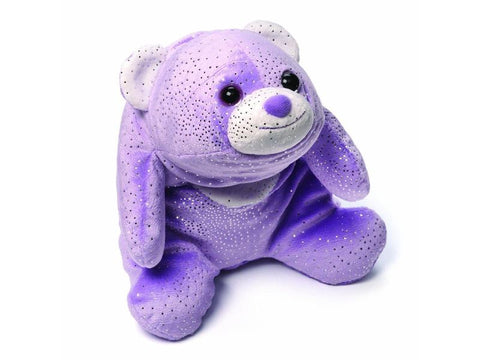 "GUND Snuffles Plush Purple Glitter Polar Bear Toy, 8"" #4044586"