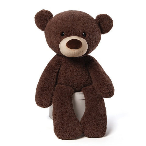 Gund Plush Fuzzy Chocolate Teddy Bear 34""