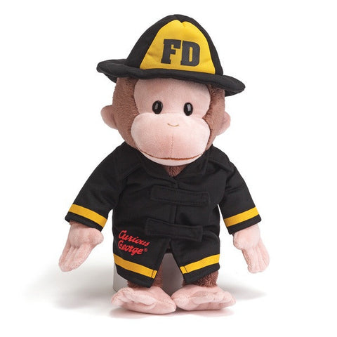 "Gund Plush Curious George Fireman 13"" #4043740"