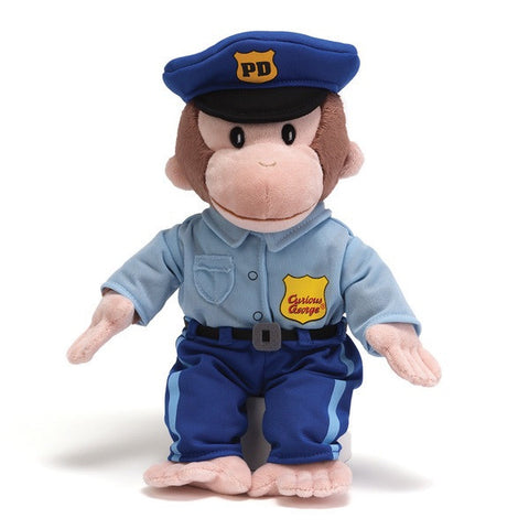 "Gund Plush Curious George in  Police Uniform 13"" #4043741"