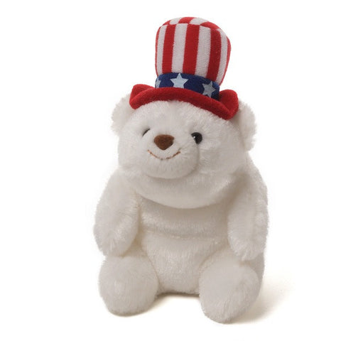 Gund Snuffles plush Polar Bear Uncle Sam 5""