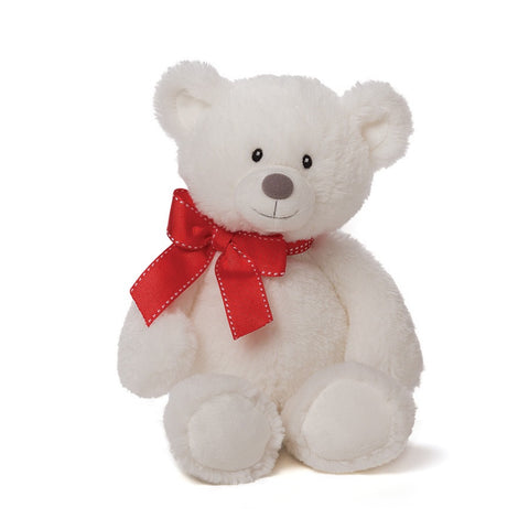 Valerie White Valentines Teddy Bear, by Gund, 12""