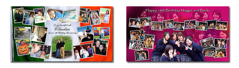 Extra Wide Picture Collage Layouts Set 2