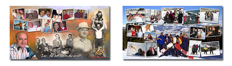 Extra Wide Photo Collage Layouts Set 1