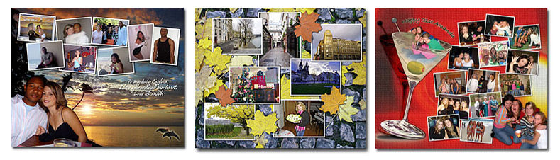 Picture Collage Puzzle Layouts Set 9