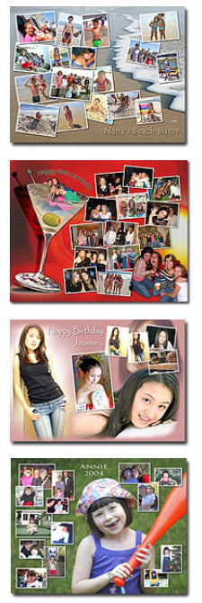 custom made photo collage puzzle layouts