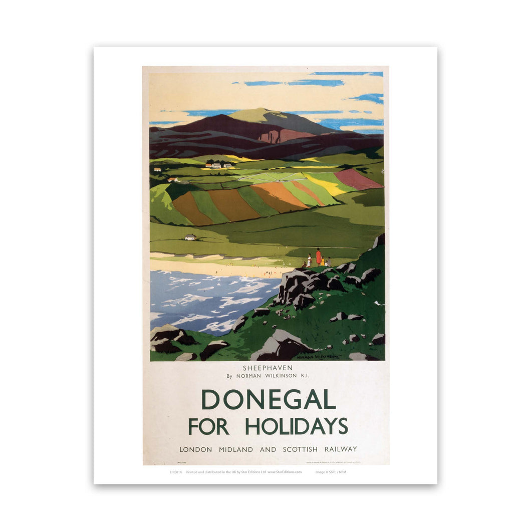 Sheephaven - Donegal for Holidays Art Print