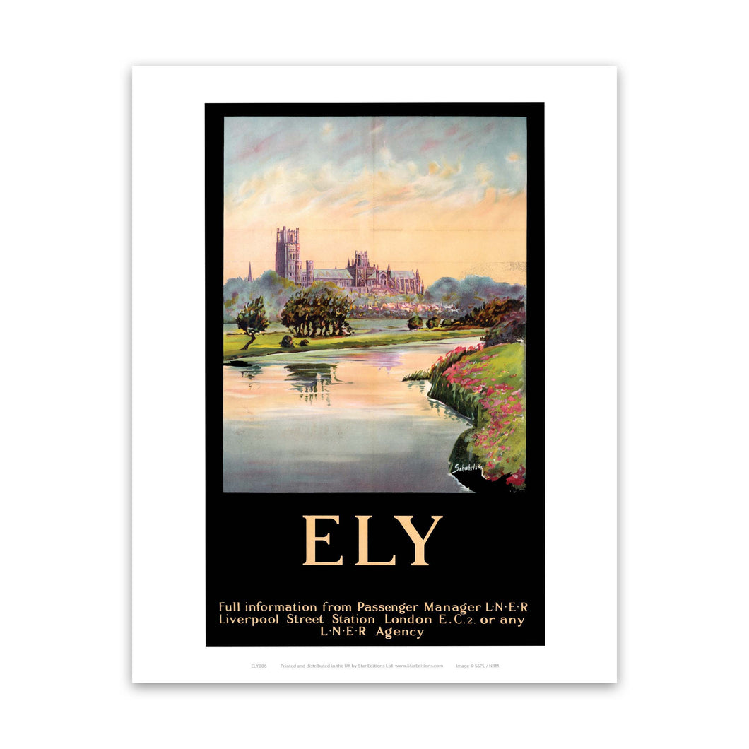 Ely Cathedral Dark Frame Art Print