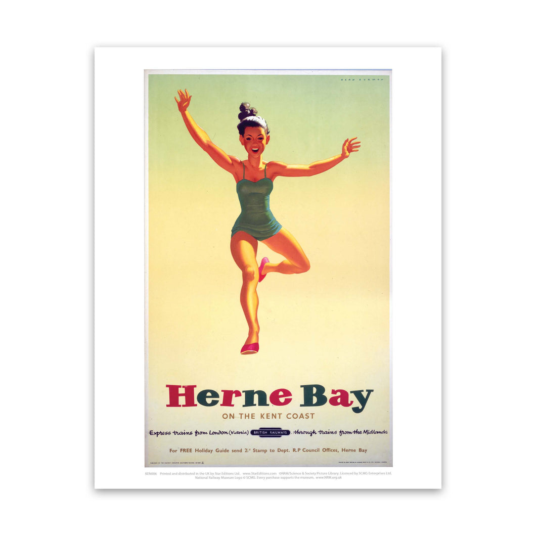 Herne Bay Girl in Green Costume Art Print