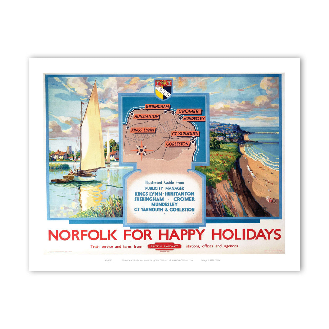 Norfolk for Happy Holidays Art Print